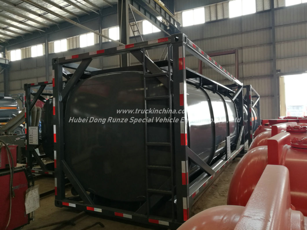 Hydrochloric Acid Solution ISO Tank Co<em></em>ntainer 20FT f<em></em>rame Locks Customized with Top Loading Pipes for 35% HCl, Naoh (max 50%) , Naclo (max 10%) , H2so4