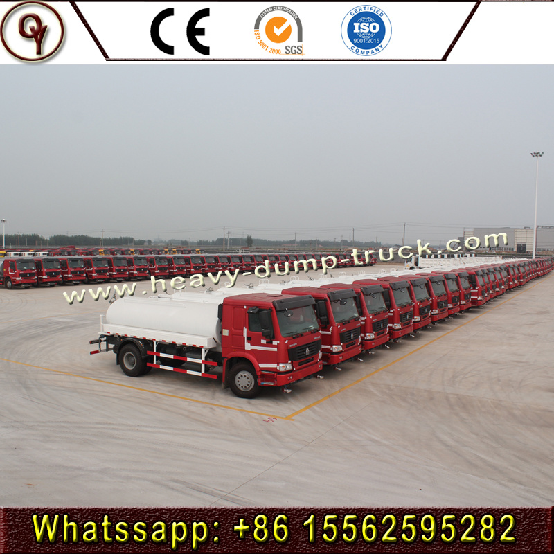 Sinotruk HOWO 4X2 15000 Liters Water Tank Truck for Sale