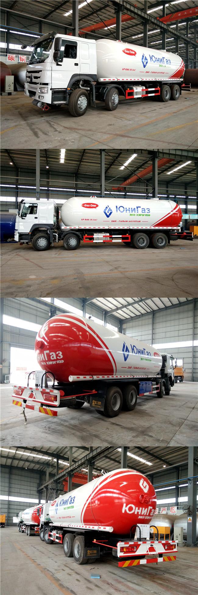Sinotruk HOWO Diesel 35000liters 35m3 LPG Tanker Truck for Sale
