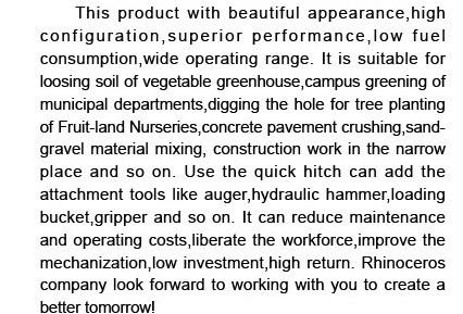 Mini Excavator 1.5 Ton Small Hydraulic Excavator Xn16
