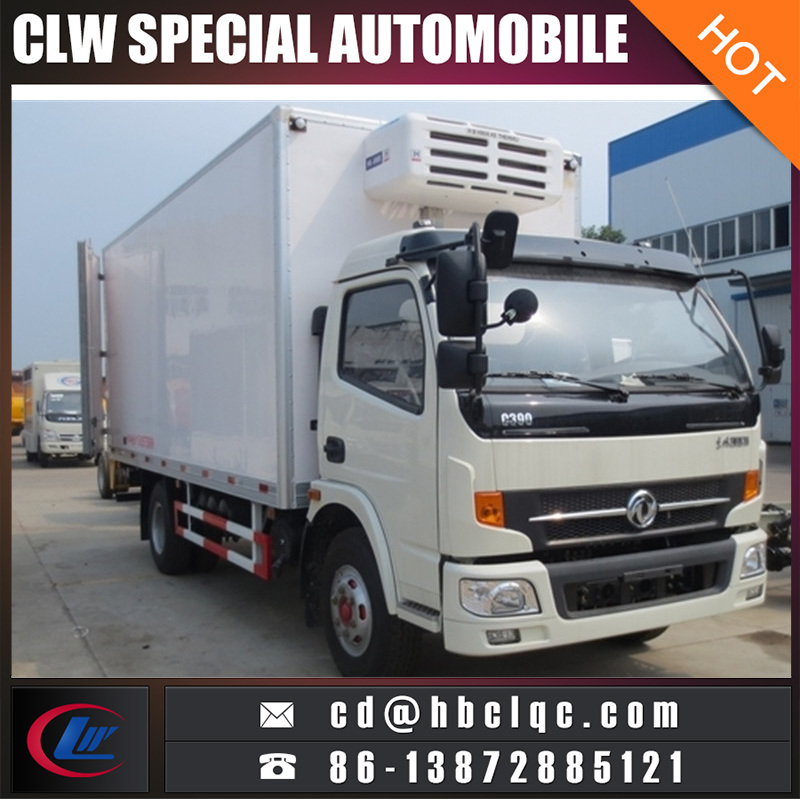 Low Price Do<em></em>ngfeng 8t Refrigeator Van Truck Insulated Van Truck Body