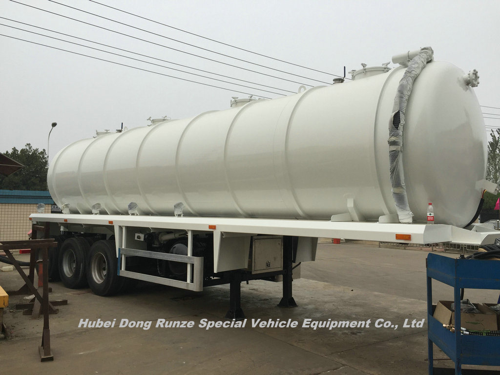 Tri Axles Vcuum Sewage Tank Tanker 25m3