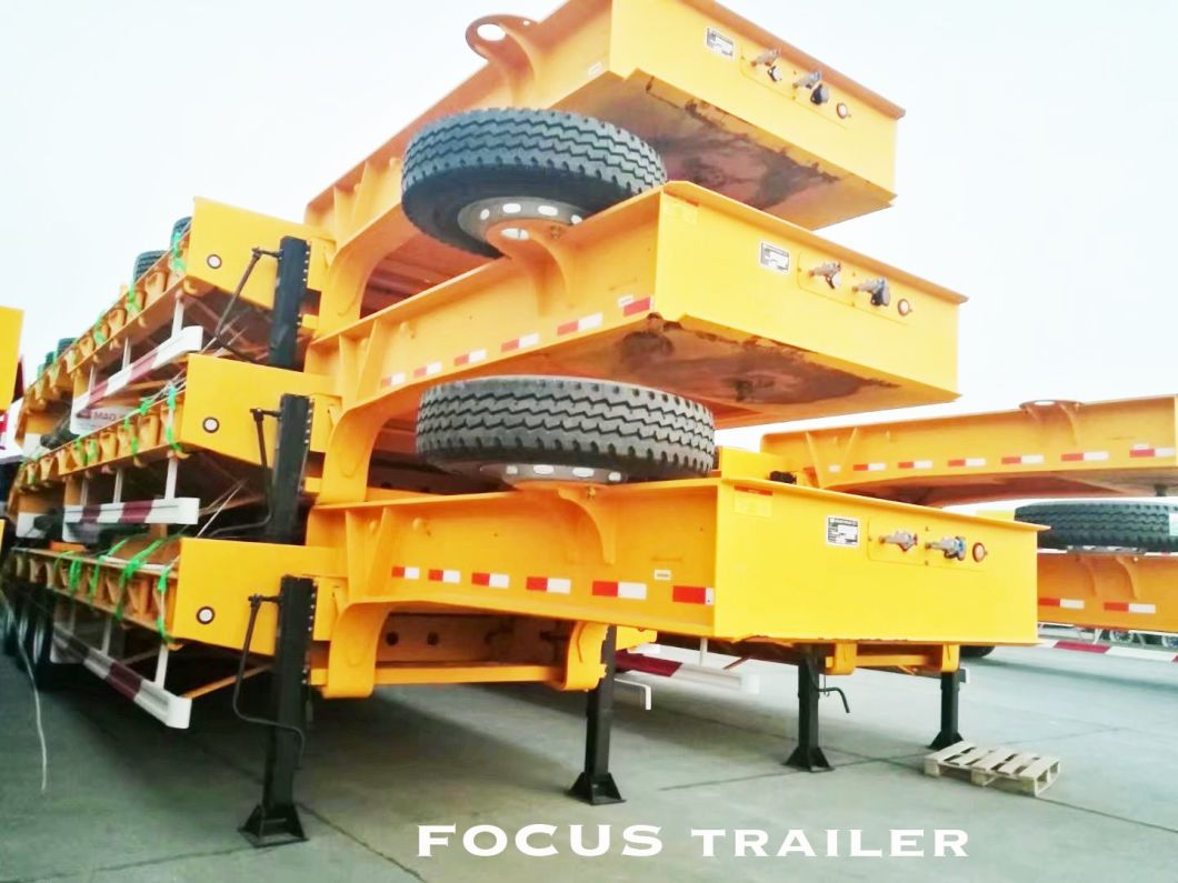 Best Price Lowbed / Low Bed Semi Trailer Driven by Tractor Truck