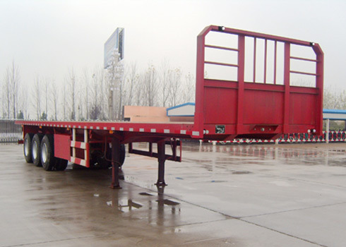 New Customed 3 Fuhua/BPW Axle ABS Braking Carbon Steel Flatbed Semi Truck Trailer for Sale
