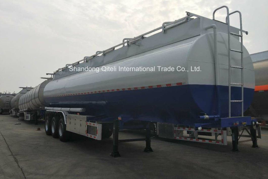 High Quality Sulfuric Acid Chemical Liquid Tanker Trailer/Oil Tanker Use for Diesel Gasoline Petroleum Oil Transportation