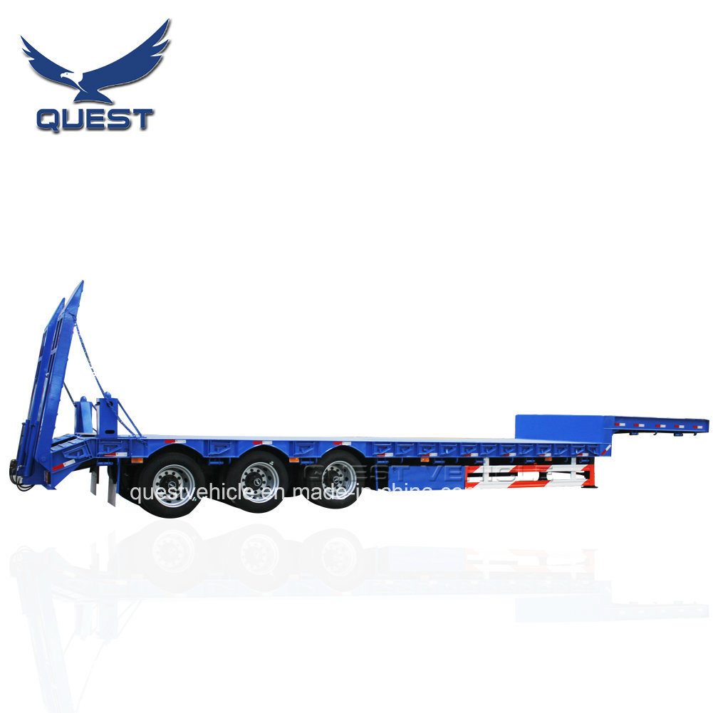 45FT Drop Deck 3axle Carrying Co<em></em>ntainer Lowbed Semi Trailer