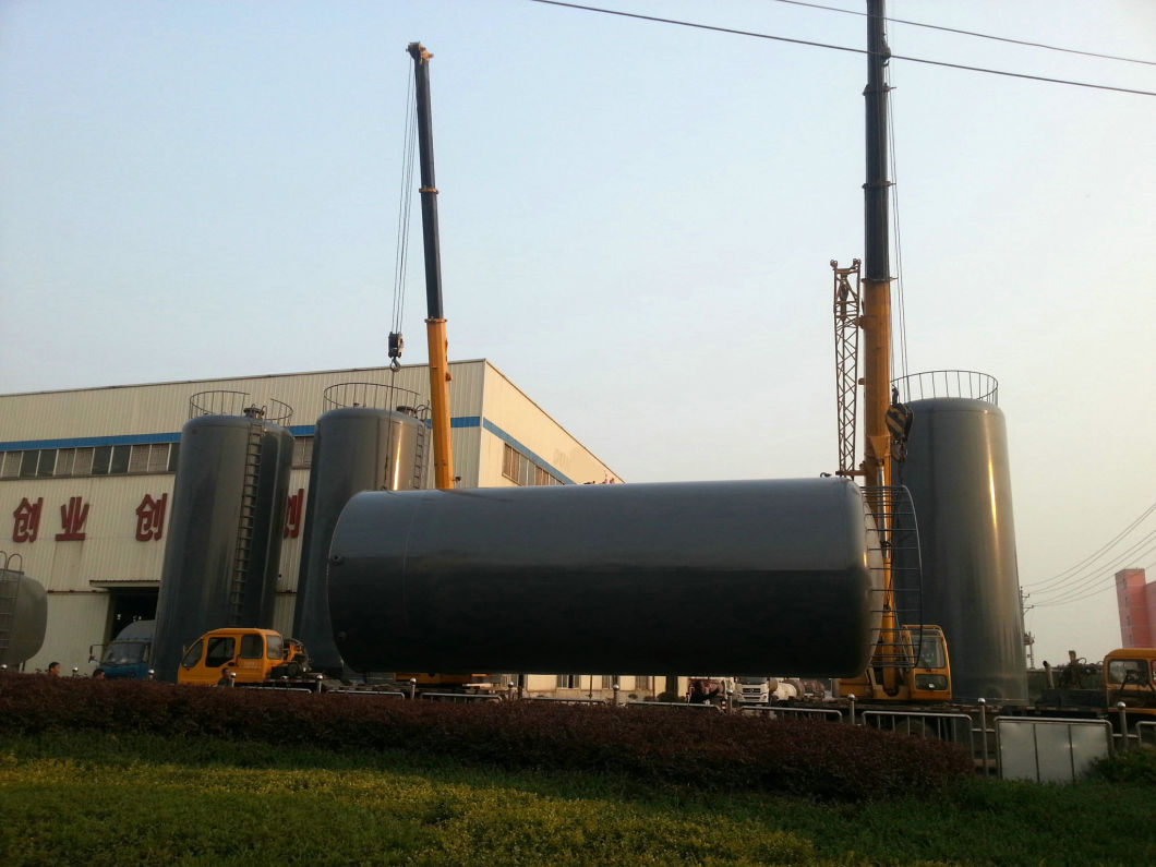 HCl Acid Tanks-Skid Mounted Lined PE Closed Top 500 Bbl Frac Tank Type of Tanks for o<em></em>nsite Acid Supply and Holding Ease of Transportation