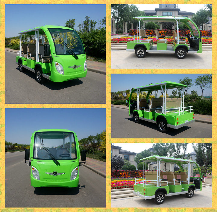 Battery Operated 8 Seats Enclosed Shuttle Bus