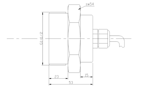 Sanitary Flush Diaphragm Vacuum Pressure Transducer (JC670-04)
