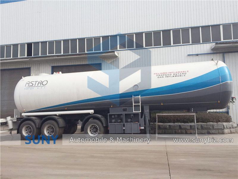 3 Axles 58.5cbm 25 Tons LPG Tanker Transporting Trailer