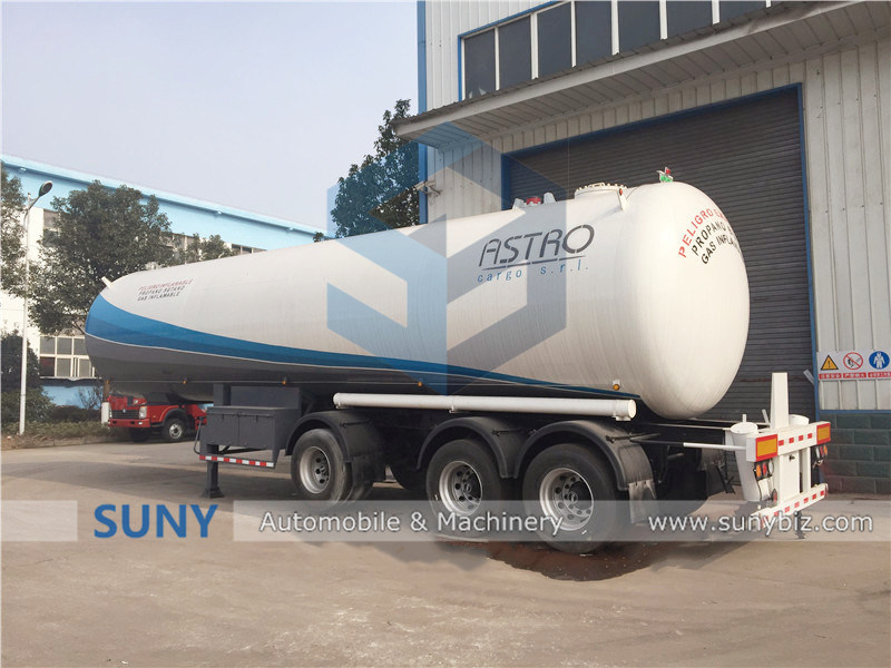 Africa Used LPG Gas Tank Transport Trailer