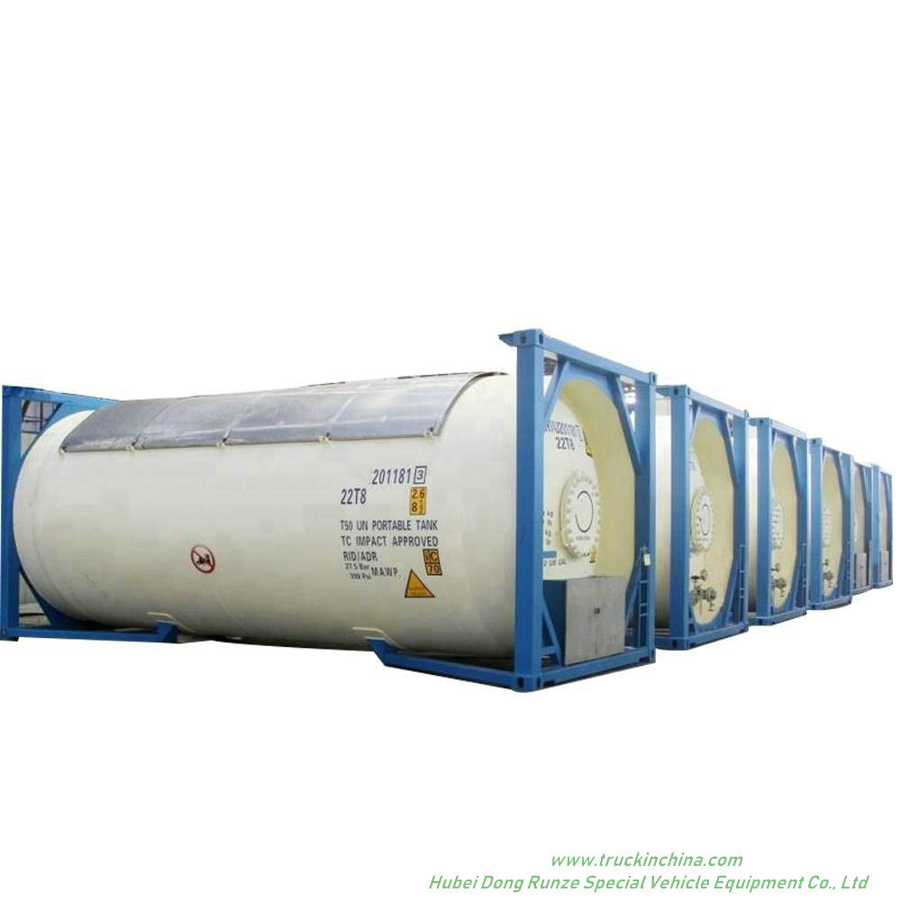 LPG ISO T50 Tank Co<em></em>ntainer 20FT, 30FT, 40 FT Portable or Road Trannsport Un1075 (DEM, Isobutane, cooking gas) 24kl, 42kl