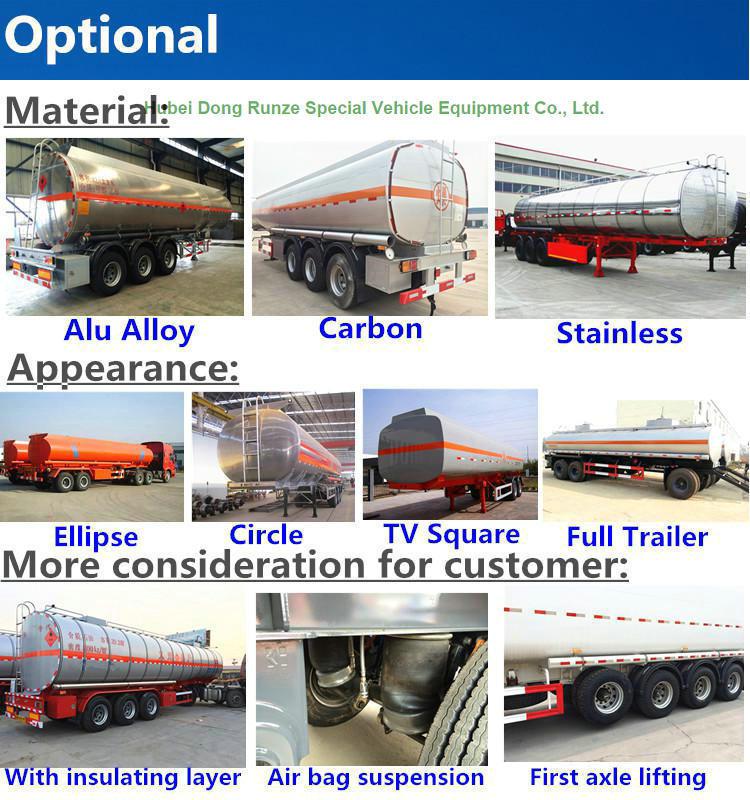 Steel Fuel Tanker Semi-Trailer 3 Axles Oil Tank Capacity 42000L to 47000L (Diesel) with BPW Axles Air Spring Single Tyer 385/65r22.5