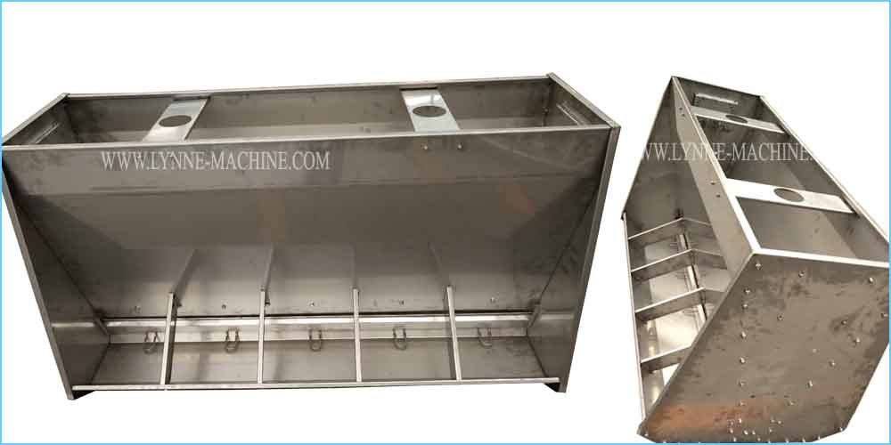 Double Side 304 Stainless Swine/Pig Feeding Equipment UK Hot Sale