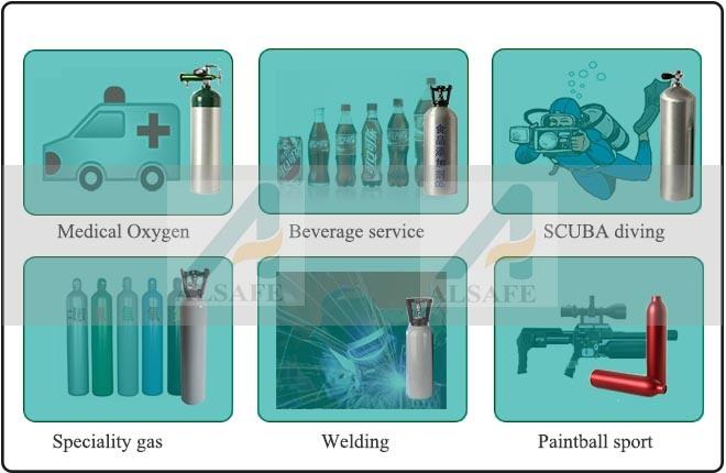 Argon, Helium, Hydrogen Compssed Gas Tank