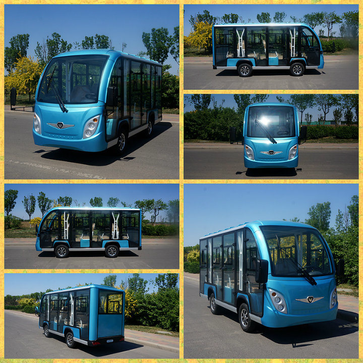 Zho<em></em>ngyi 11 Seater off Road Battery Powered Classic Shuttle Enclosed Electric City Sightseeing Bus with High Quality