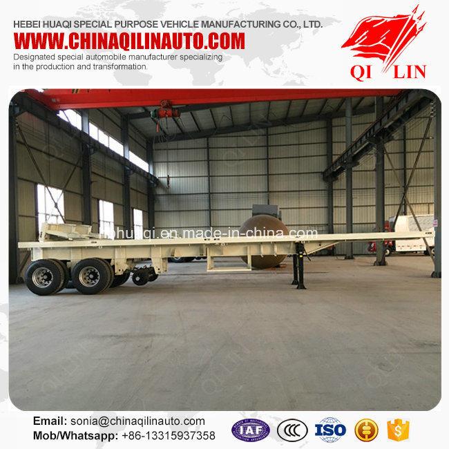 Flatbed Semi Trailer for Co<em></em>ntainer or Bulk Cargo Loading