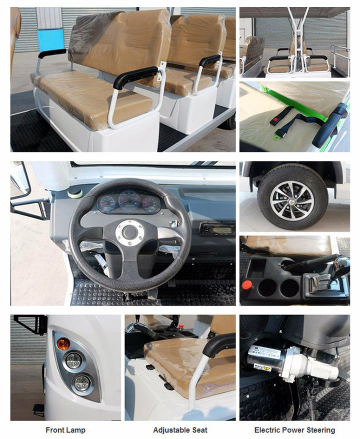 High Quality 11 Seats Electric Enclosed Sightseeing Bus with Ce Certificate