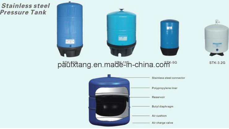 me<em></em>tal Watar Tank 5 Gallon for RO Water Filter Set