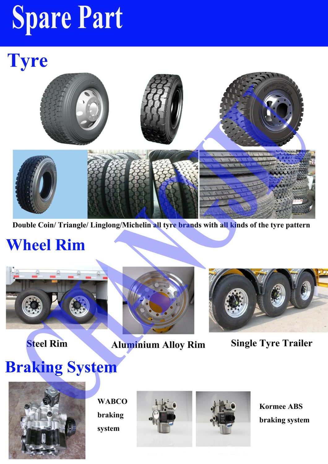 50tons Flatbed Cargo Semi/Truck Trailers with Side Wall