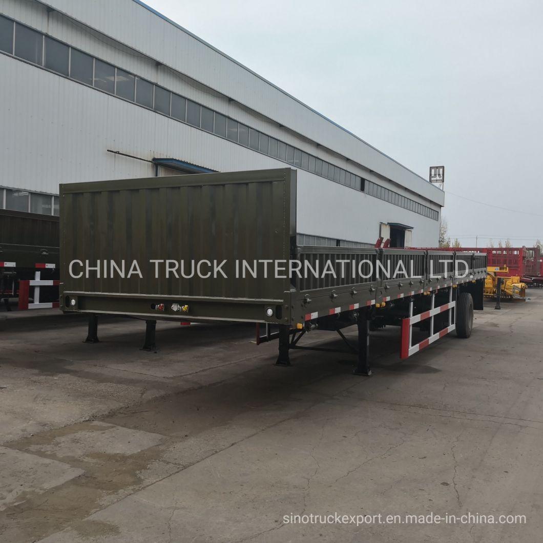 Heavy Truck Trailer 40foot 3 Axle Cargo Utility Co<em></em>ntainer Sidewall Semi Truck Trailer