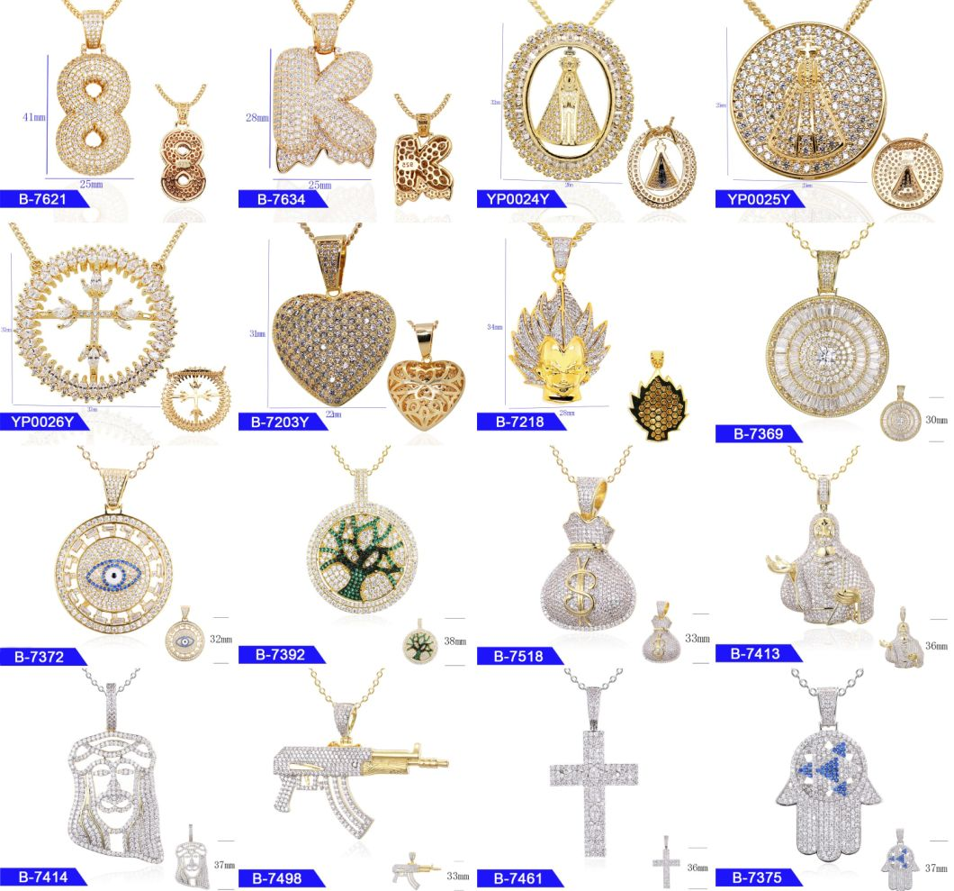 Wholesale Artificial Fashion Jewellery 925 Sterling Silver Cubic Zirconia Iced out Hip Hop Pray Hand Pendants for Men