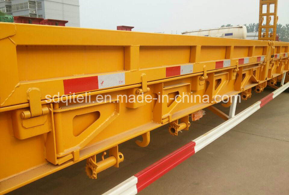 60ton 3 Axles Lowboy/Low Deck/Lowbed/Low Bed Truck Semi Trailer