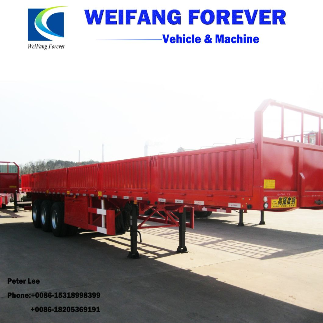 3axle Side Wall Fence Cargo Trailer for Sale
