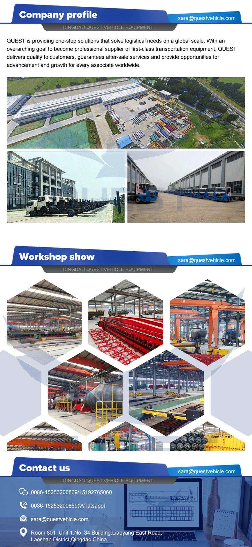 China Trailer Manufacturer Heavy Duty Lowbed Truck Semi Trailer