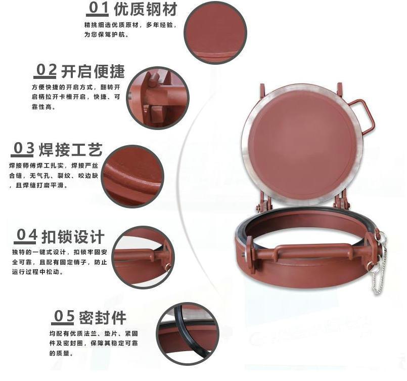 Manhole Cover for Bulk Powder Cement Tank (0.3MPa Cement Tanker Lid 520/450, 540/470)