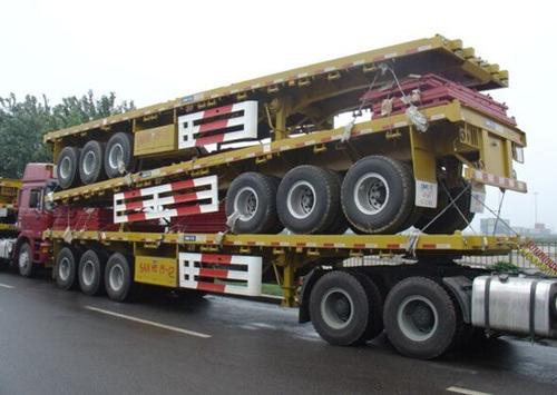 Flatbed Co<em></em>ntainer Semi Truck Trailer