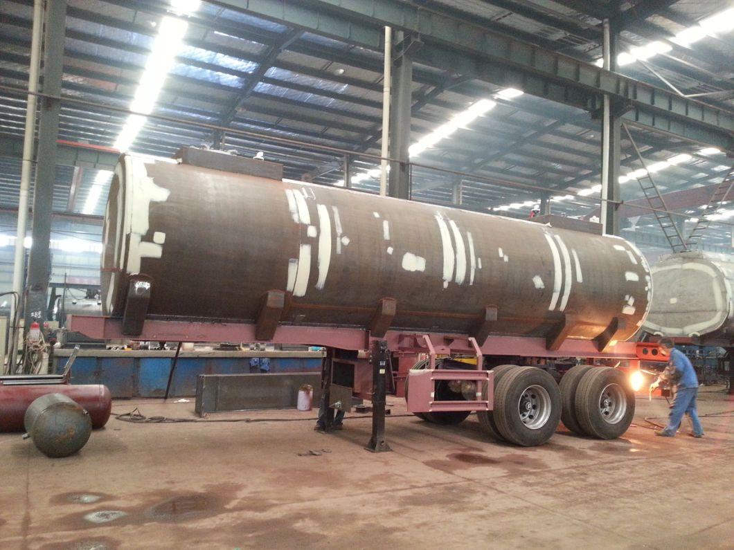 Hydrofluoric Acid Tanker with Dual Bogie Axle (single point suspension) Steel Lined LDPE 22 -27cbm Tank