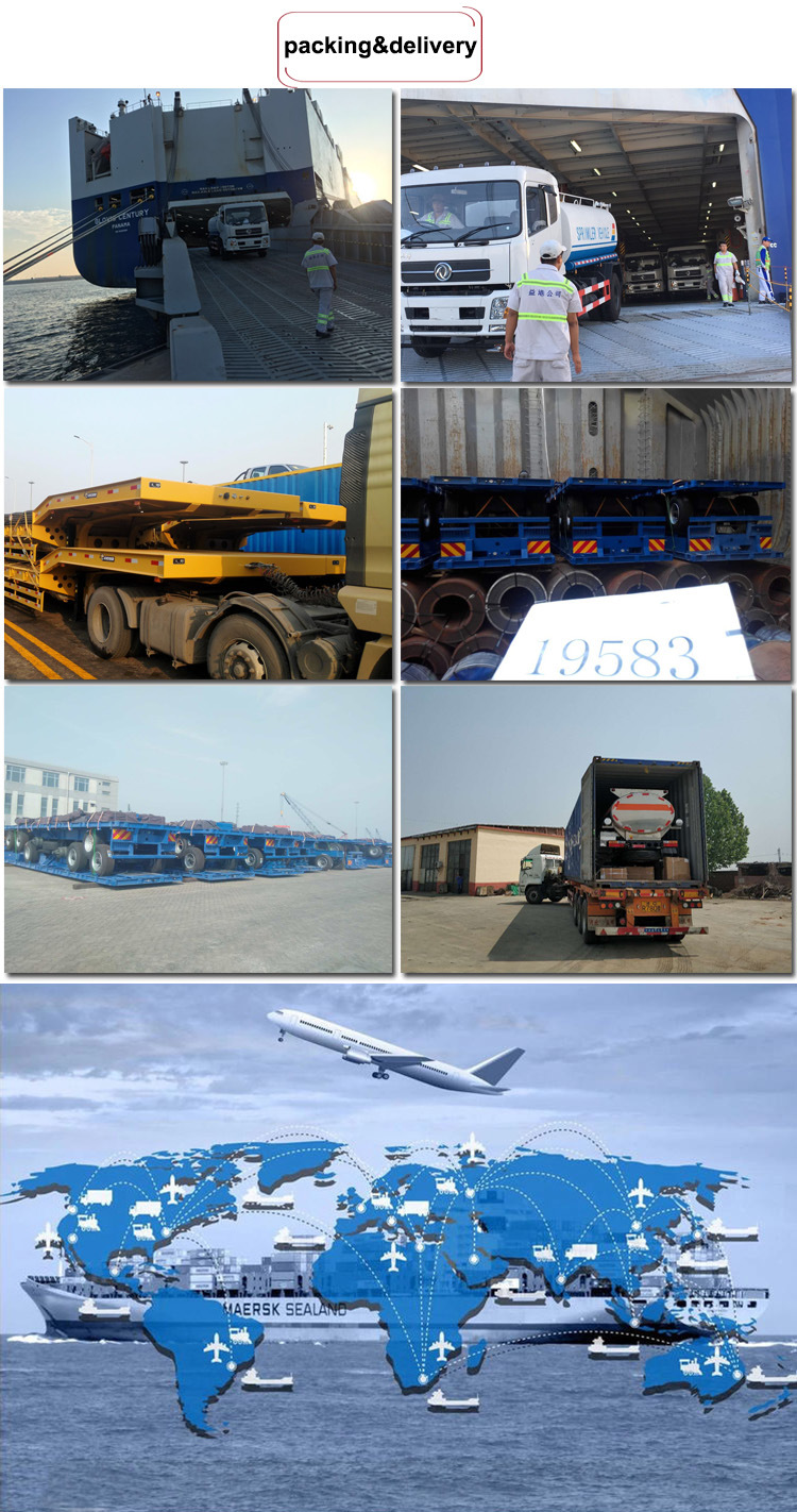 Heavy Duty Transport Low Loader Trailer with Gooseneck