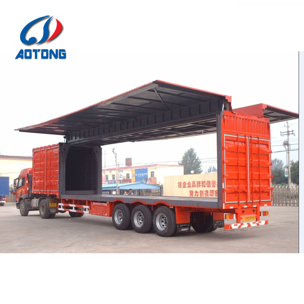 3 Axles Wing Truck Trailer for Long Distance Transportation