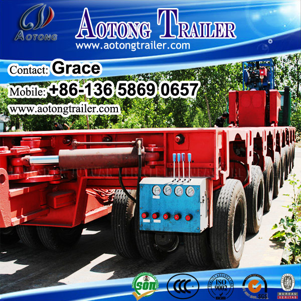 China Manufacturer Multi-Axle Hydraulic Modular Trailer with Power Station