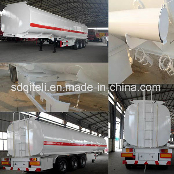 3 Axle 45m3 Stainless Steel Sulfuric Acid Tank Semi Trailer for Sale
