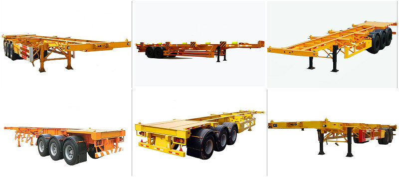 Hot Sale 3axle Flatbed Co<em></em>ntainer Trailers (skeleton chassis type optional)