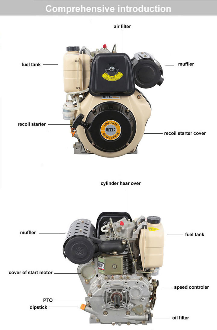 Hot Sale 16HP Direct Injection Diesel Engine