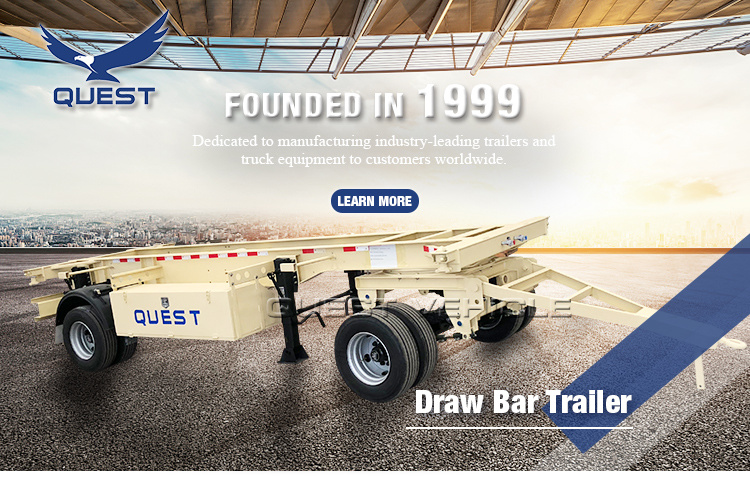 2 Axles Draw Bar Side Panel Cargo Full Trailer