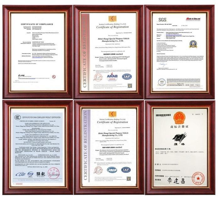 UL Certificate Double Layer Storage Underground Fuel Tank