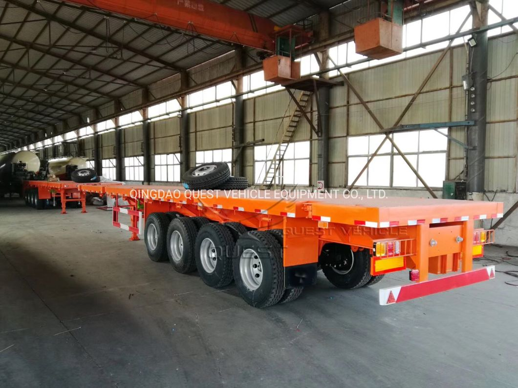 Cheap Price 4 Axles Co<em></em>ntainer Trailers 40FT Flatbed Semi Trailer