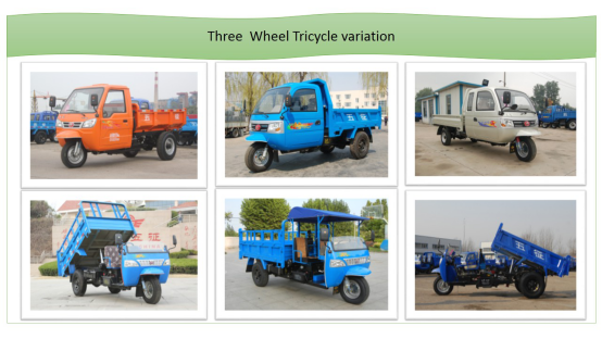 Waw Chinese Diesel Dump Three Wheel Vehiclefor Sale