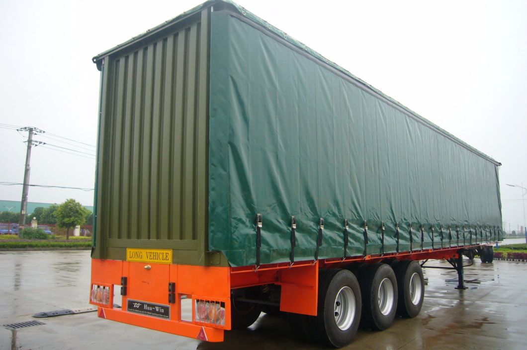 3 Axles Cargo Box Van Curtain Side Semi Trailer For Sale Cheap Price China Truck Manufacturers Com Mobile Site