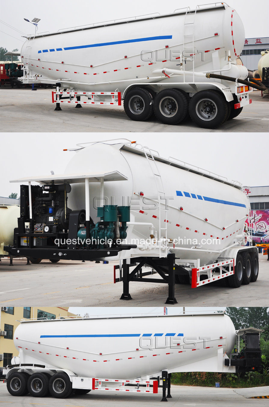 40cbm Dry Cement Bulk Tanker Semi Trailer with Air Compssor