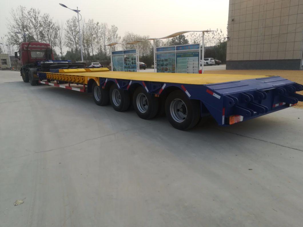4 Axle 120ton Low Loader Truck Semi Trailer