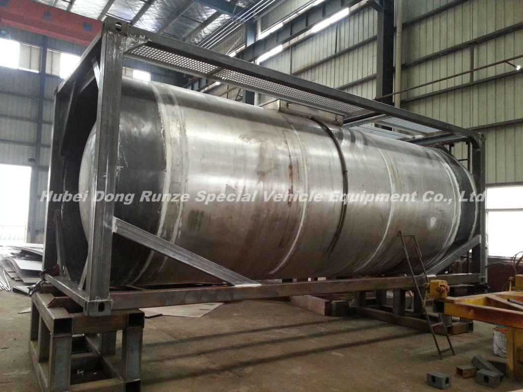 Trichlorosilane (SiHCl3) Isotank 20FT Tank Co<em></em>ntainer f<em></em>rame Trichlorosilane, Silicochloroform (Chemical Storage or Road Transport Tank)