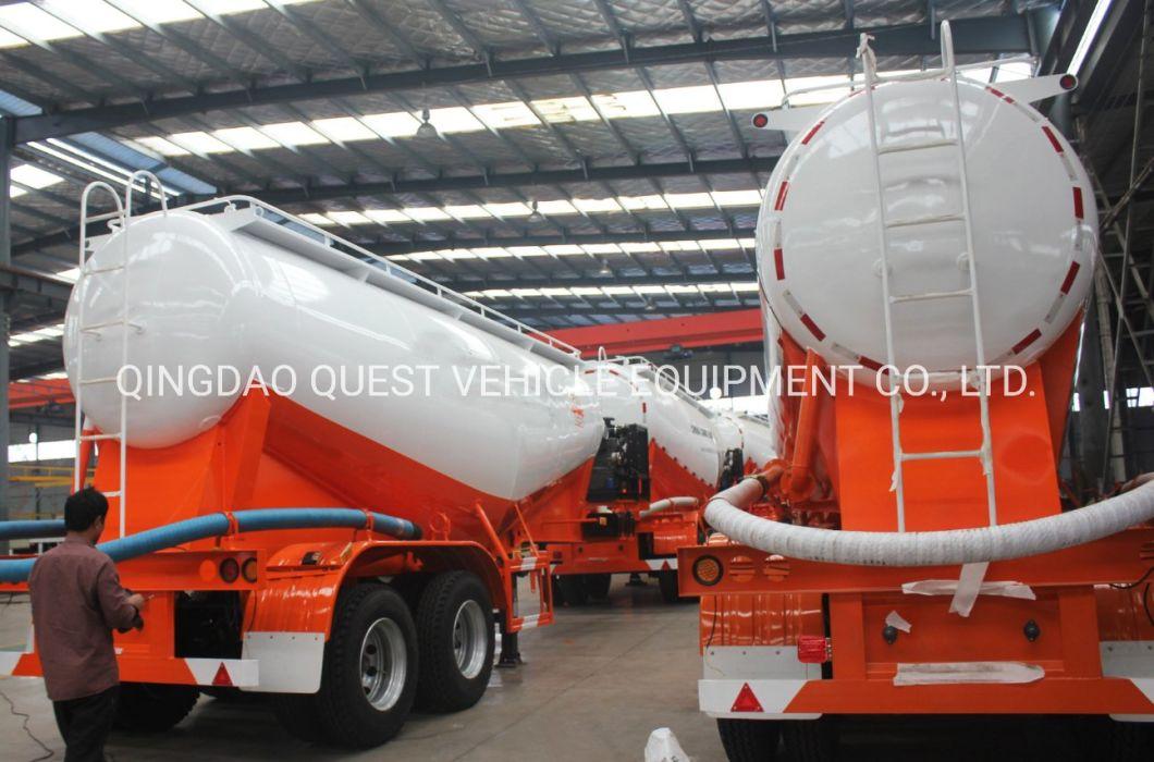 Used Air Compressor Dry Bulk Cement Powder Tanker Semi Trailer