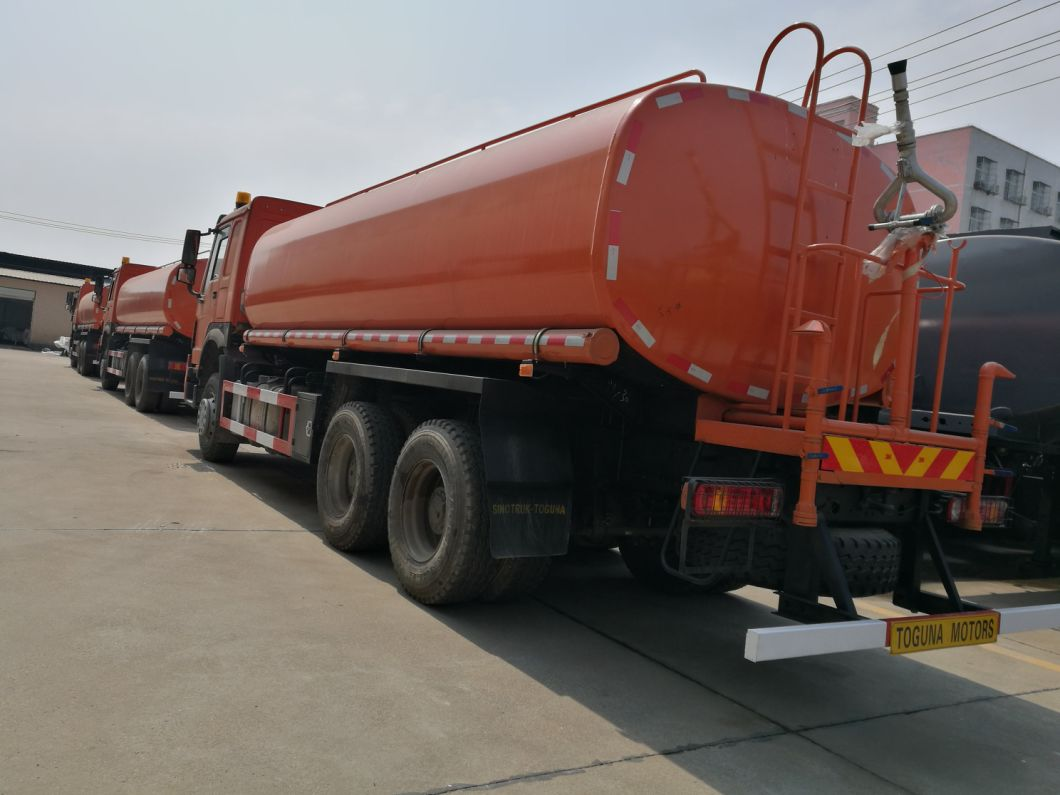 Sinotruck HOWO 6X4 Water Tank Bowser Truck Capacity 15 Tons 18 Tons 20 Tons Water Sprinkler Truck (336HP 371HP 15000L 18000L 20000L)