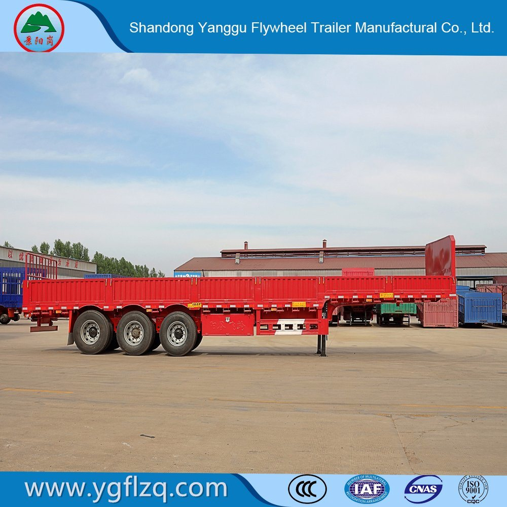 China Manufacture Renovated/Renovate Side Wall/Flatbed Semi-Trailer/Turck Trailer with Twist Lock