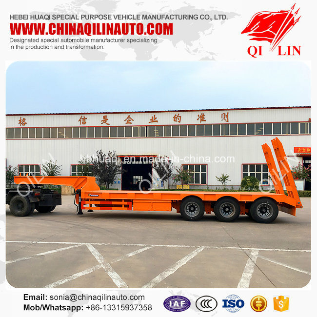 12 Meters Low Bed Skeleton Semi Trailer for Building Materials Loading